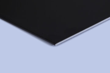 ANODIZED ALUMINIUM SHEET BLACK BRIGHT 1MM (1mm x 4feet x 8feet)