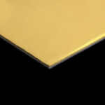 ANODIZED ALUMINIUM SHEET MIRROR GOLD 1MM (1mm x 4feet x 8feet)